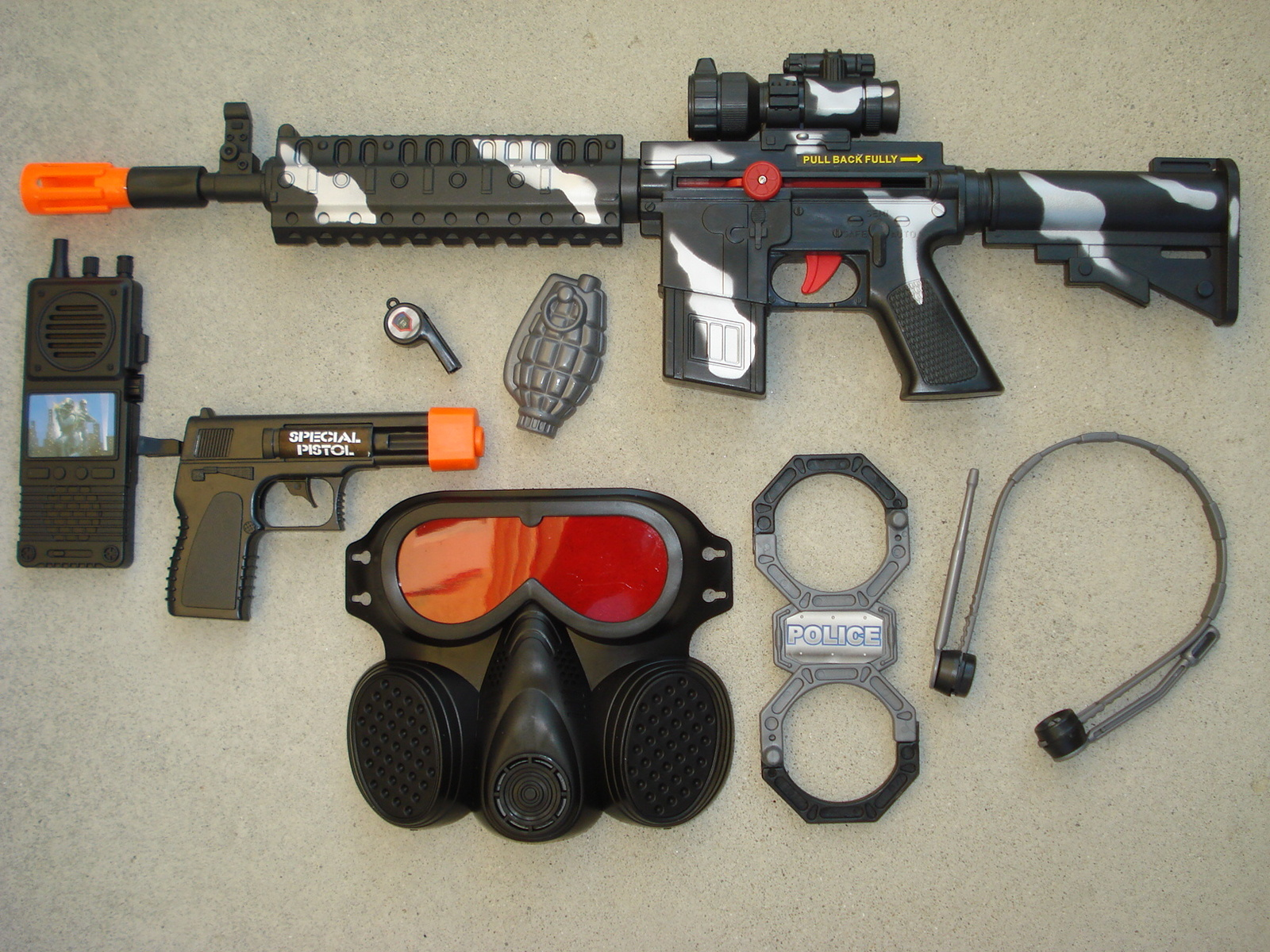 M16 SWAT Police Toy Gun Play Set with M16 and 25 similar items