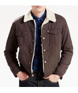 Levi's Sherpa Trucker Flannel Jacket Brown Regular Fit 163650015 Levis Men - $51.94+