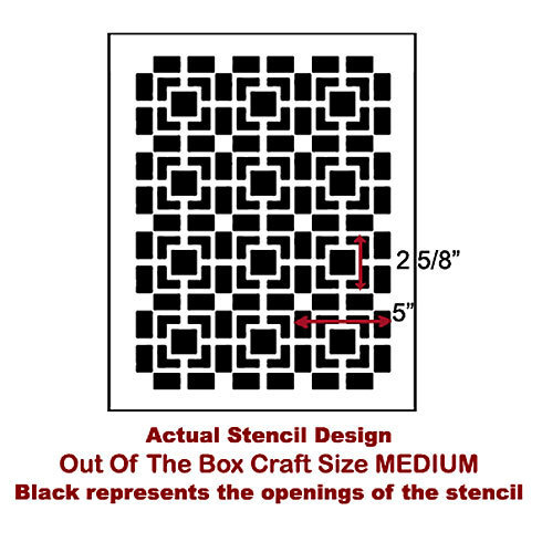 Craft Stencil Out Of The Box Med Diy Stencil For Furniture Pillows Other