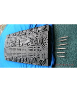 70's Northwest Coast HAIDA design Pearlite CRIBBAGE Board + STERLING SIL... - $399.99