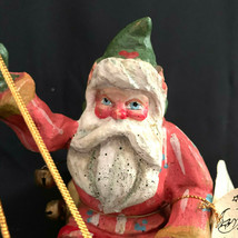 Vintage House Of Hatten Good Cheers Santa Riding On A Sled 1988 - $47.52