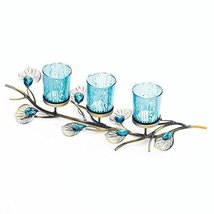 Gallery of Light Candle Holders, Dining Rustic Dining Peacock Inspired T... - $32.40