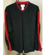 VTG Roots Athletics Canada Navy Blue Red Pullover Fleece Sweater Sweatsh... - $39.57