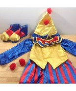 Clownin Round Clown Kids Costume Halloween Childs Outfit Hat Shoes Size ... - $23.36