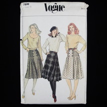 Vtg 70's Vogue Front Wrap Pleated Skirts Sewing Pattern 7806 sz 6 waist ... - $15.47