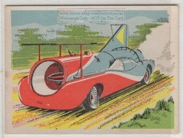 Art Afron 'Green Monster' Jet Powered Car Vintage Ad Trade Card - $6.62