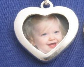 """ccj HEART PICTURE Photo 18"""" Necklace 925 Silver N72.A"""