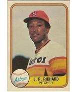 J R Richard Baseball Card  # 56   - $4.75