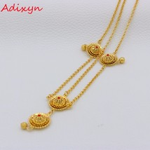 Adixyn Red Stone Forehead Pieces Ethiopian Head Chain Gold Color Hair Pice Jewel - $14.30