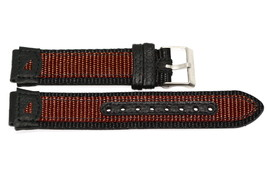 18MM LEATHER/NYLON BLACK/BROWN Fs Watch Band Fits IRONMAN/EXPEDITIOn - $9.89