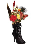 black lace goth boot vase flowers printable art clipart png download dig... - $3.25
