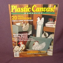 Plastic Canvas Magazine Sept/October 1991 20 Projects Fall Hen Message H... - $4.95