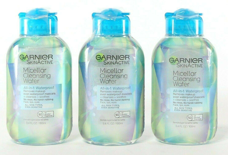 2 Garnier SkinActive Micellar Cleansing Water All-in-1 Waterproof 3.4 fl. oz