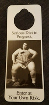 NOS Vintage 1990s Novelty Door Hanger Serious Diet In Progress ENTER AT ... - $8.70