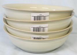 DENBY LINEN SET OF 4 LARGE SIDE BOWLS BONE CHINA SOLID COLOR-BEIGE NEW W... - $69.90