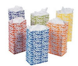 Pack of 12 Hibiscus Paper Bags T3 Favor Treat Bags - $4.49