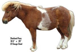Shetland Pony Animal Wall Art Laser Cut Out 18.5x26 - $39.55