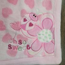 JUST BORN Baby Blanket Love Bug Pink Heart Oh So Sweet Ladybug Plush Fle... - $39.59