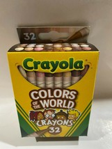 Crayola Colors of the World Crayons 32 pc Skin/Hair/Eyes/Multicultural/Diversity - $7.86