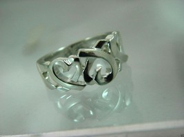 Tiffany&Co Paloma Picasso Loving Heart Ring Sterling Silver / Sz 6.5 - $97.02