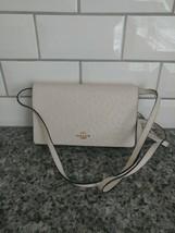 COACH Hayden Foldover Crossbody Clutch Bag Chalk/Gold Ostrich Leather F6... - $89.26 CAD