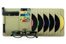 Auto Accessories 10-Pocket CD Visor Organizer DVD/CD Storage Beige