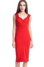 Unomatch Women's Cutout Midi Sheath Dress Christmas Dress Valentine Day ... - $18.99