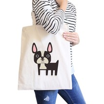 French Bulldog Natural Canvas Bags Gifts For French Bull Dog Owner - $18.56 CAD