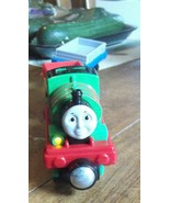 Thomas the Tank Engine Percy J32A Talking Light Up Magnetic Train w/ 2 Cars - $18.69