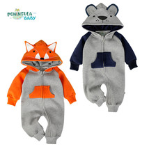 Fox Bear Newborn Baby Romper Costume Baby Clothes Animal Overall Winter ... - $33.05 CAD+