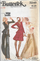 Vtg. Butterick Fastion One Willi Smith Pattern #3246-Misses Top-Skirt-Pa... - $9.46