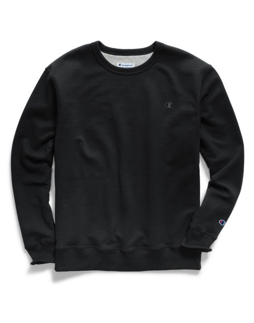 Champion Powerblend Men's Fleece Crew Long Sleeves Sweatshirt S0888 407D55 image 2