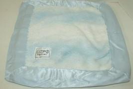 Little Giraffe Blue White striped satin trim luxe baby security blanket - $49.49