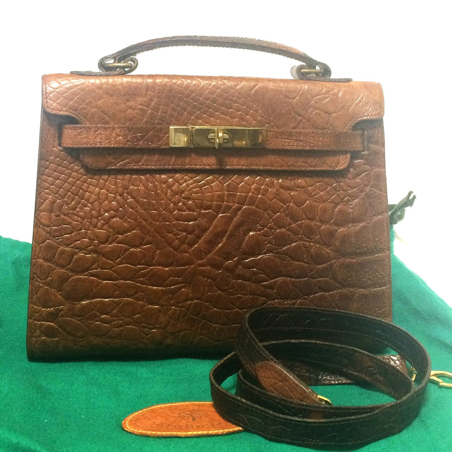 b9d66dd0fff3 Vintage Mulberry croc embossed brown leather and 12 similar items. Il  fullxfull.1114445673 9usd