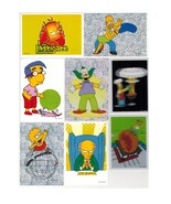 Simpsons 2nd Series Stickers Incomplete Set -3 Panini - $10.00