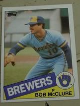 Bob McClure, Brewers,  1985  #203 Topps Baseball Card GD COND - $0.99