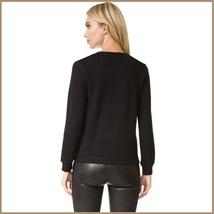 "Black Cotton Long Sleeve Printed ""Normal People Scare Me"" Warm Sweatshirt image 2"