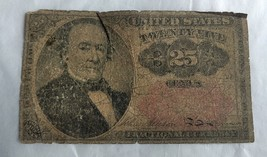 1864 25 Cents US Fractional Currency Banknote - $8.59