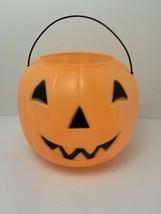 Vintage Halloween Jack O Lantern Pumpkin Bucket Blow Mold General Foam P... - $19.77