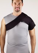 """Corflex Cryotherm Shoulder Wrap W/2 Gels Grey - Fits Up To 48"""" Chest Circumferen - $35.99"""