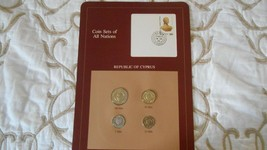 Coin sets of all nations, Republic of Cyprus, 4 coins, postmarked 1984 - $9.89