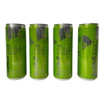 Four Red Bull The Green Edition Kiwi Apple Energy Drink 12 oz. Cans Expi... - $44.55