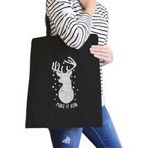 Make It Rein Vintage Reindeer Black Canvas Bags - $19.89 CAD
