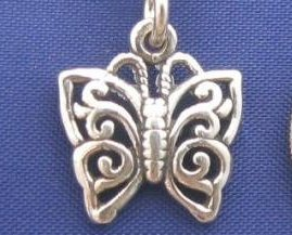 ccj BUTTERFLY 16 Inch Necklace Sterling Silver N87