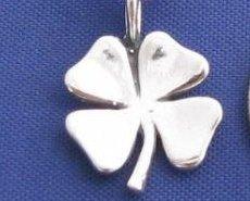 ccj LUCKY IRISH SHAMROCK 18 Inch Necklace 925 Silver N29