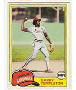 Garry Templeton Baseball Card  # 485  - $2.95