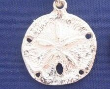 ccj SAND DOLLAR 16 Inch Necklace 925 Sterling Silver N12.A