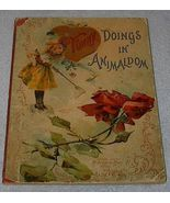 Old Antique Children's Book, Funny Doings in Animaldom - $30.00