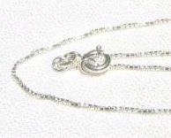 16 Inch BOX CHAIN 925 Sterling Silver 1mm BX.16