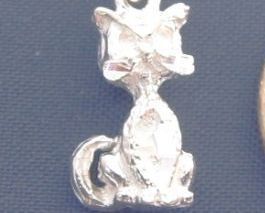 DC KITTY CAT KITTEN 16 Inch Necklace 925 Silver N34.A